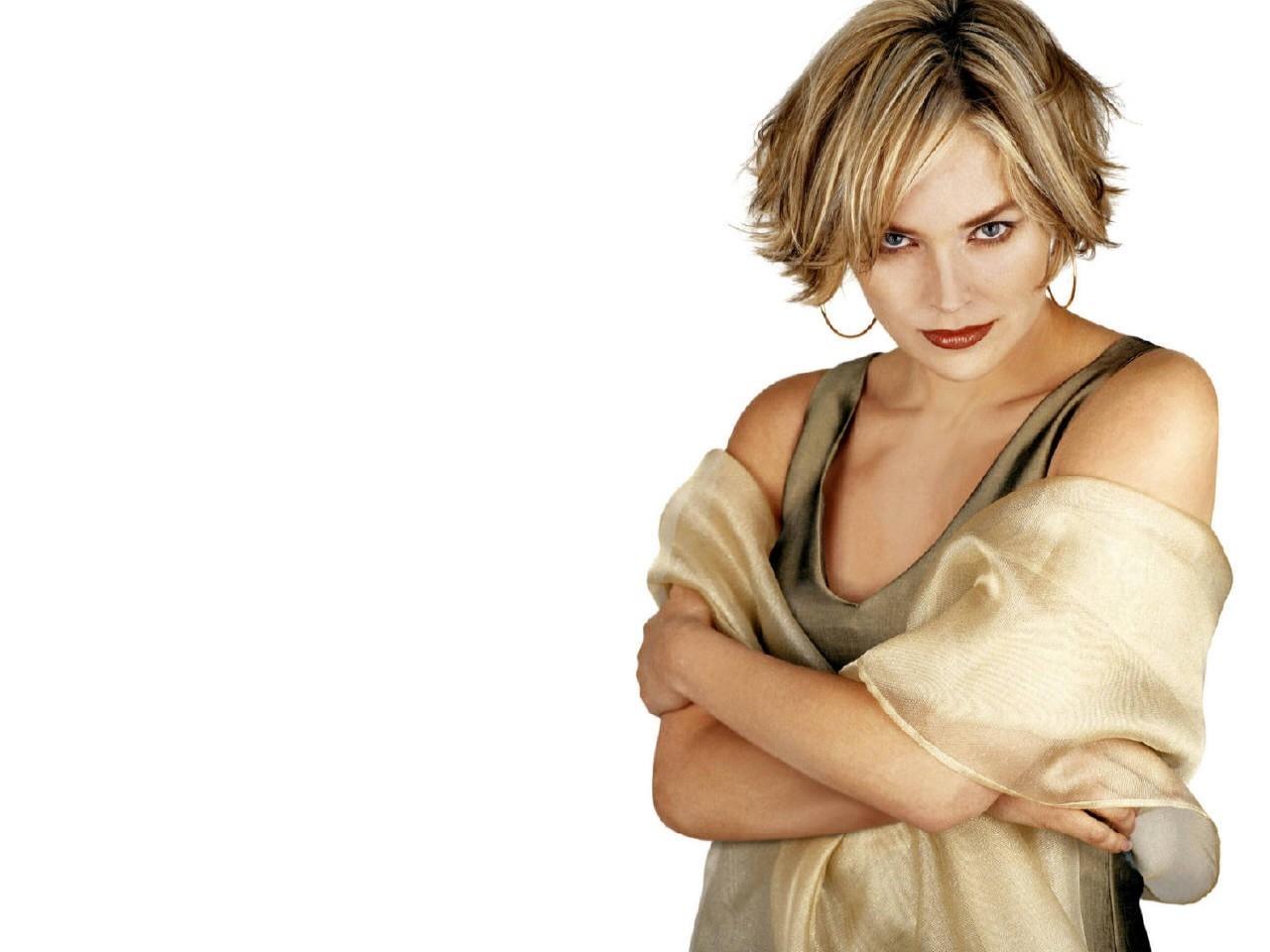 Wallpaper - sguardo da gatta per Sharon Stone