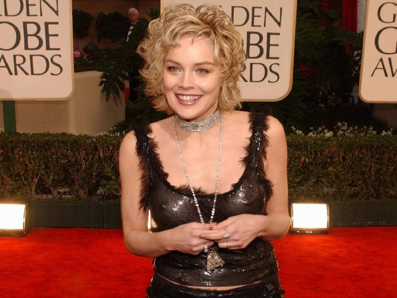 Wallpaper di Sharon Stone ai Golden Globe