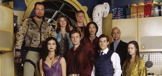 Il cast della serie televisiva Firefly