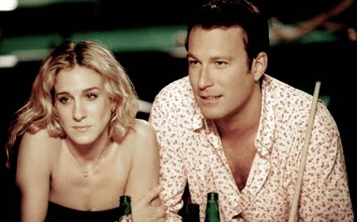 John Corbett e Sarah Jessica Parker in una scena di Sex and the City, episodio Grazie e... disgrazie