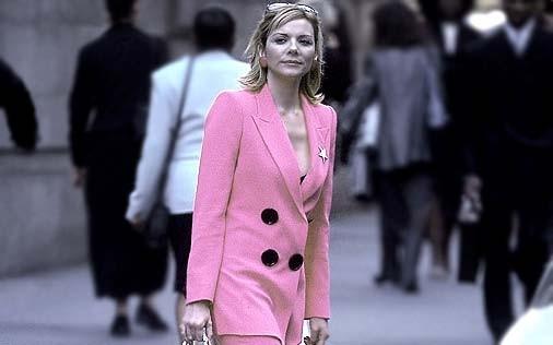Kim Catrall in una scena di Sex and the City, episodio Delitto e castigo