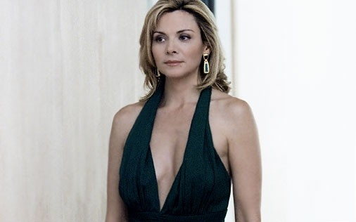 Kim Cattrall na scena di Sex and the City, episodio Strane manie da single
