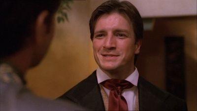 Nathan Fillion in una scena di Firefly, episodio Bon-ton pericoloso