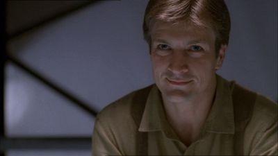 Nathan Fillion in una scena di Firefly, episodio Il sopravvissuto