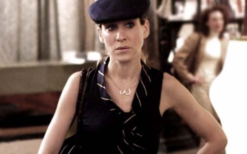 Sarah Jessica Parker in una scena di Sex and the City, episodio Parlare non basta