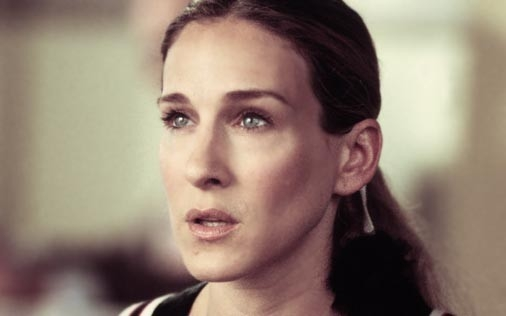 Sarah Jessica Parker in una scena del telefilm Sex and the City, episodio Potevo, volevo, dovevo