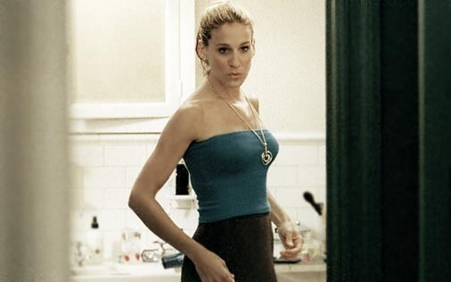 Sarah Jessica Parker in una scena di Sex and the City, episodio Strane manie da single