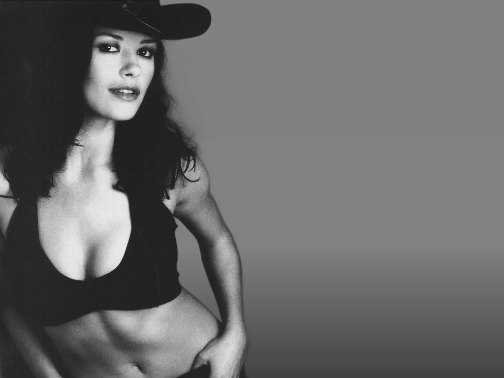 Wallpaper di Catherine Zeta-Jones in versione cowgirl sexy