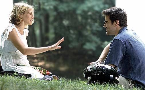 Sarah Jessica Parker e Ron Livingston in una scena di Sex and the City, episodio Nuovi e vecchi amori