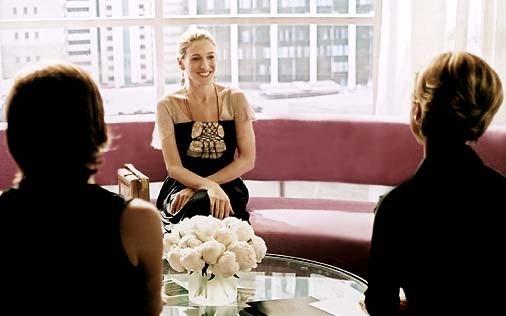 Sarah Jessica Parker in una scena della serie tv Sex and the City, episodio Ragazza copertina