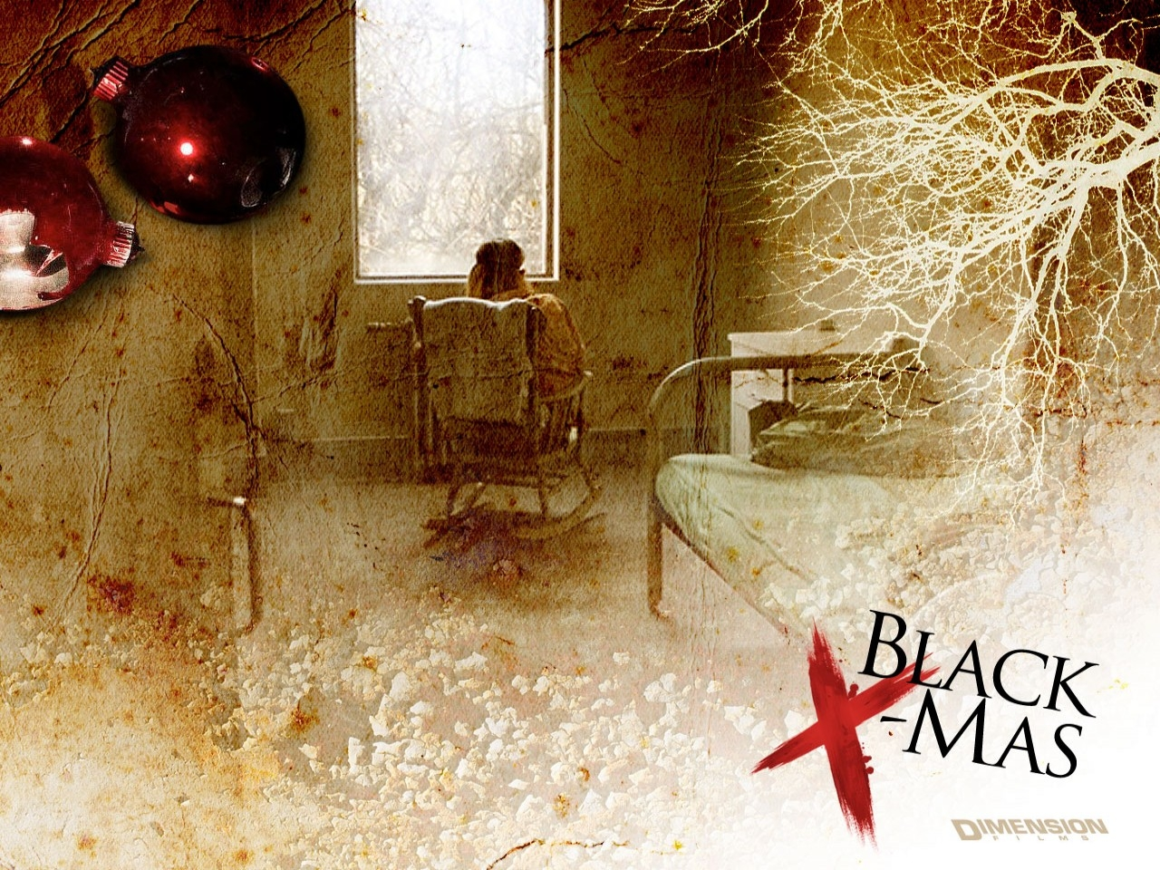Wallpaper del remake horror Black Christmas - Un Natale rosso sangue
