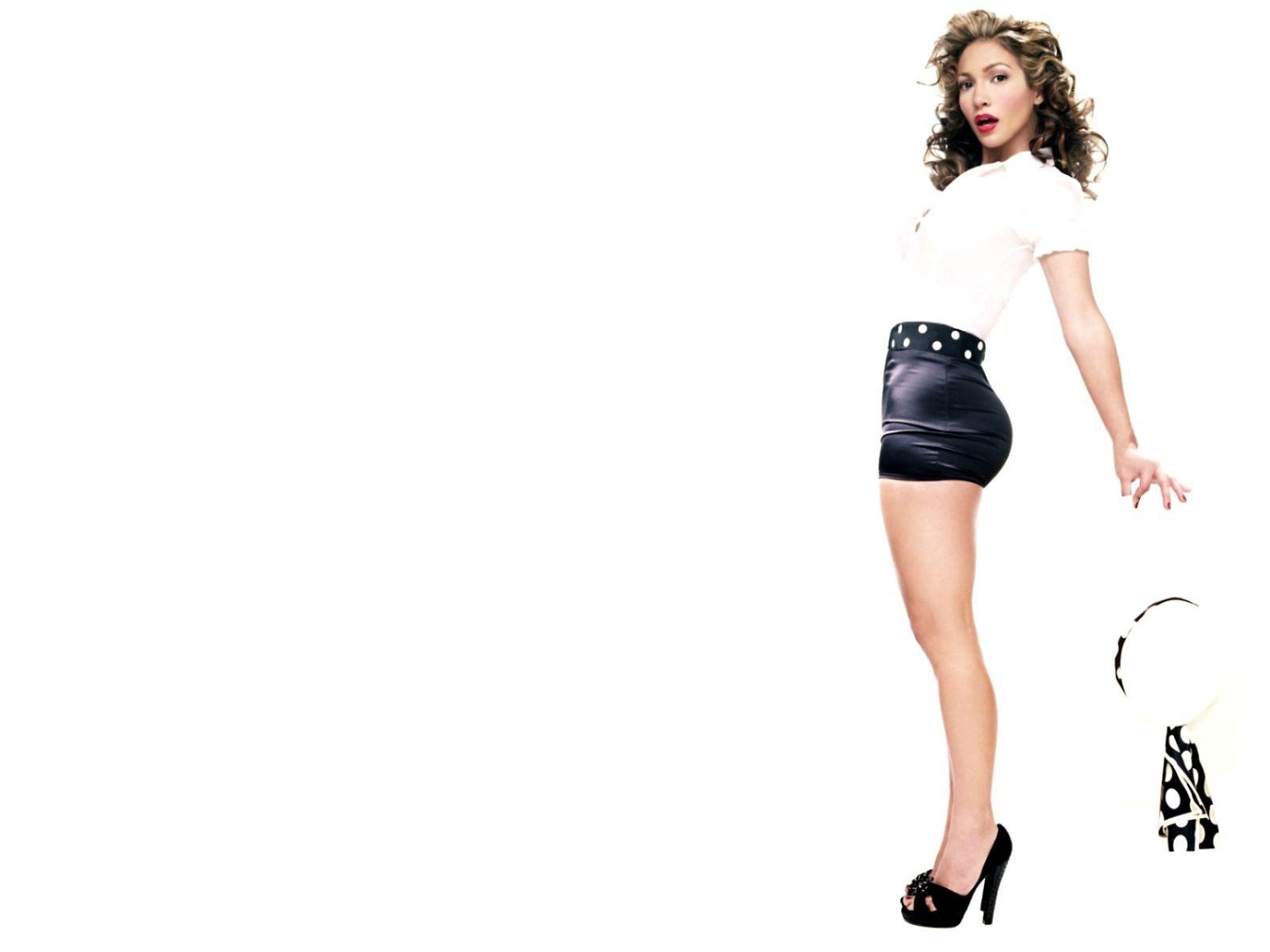 Wallpaper di Jennifer Lopez su fondo bianco