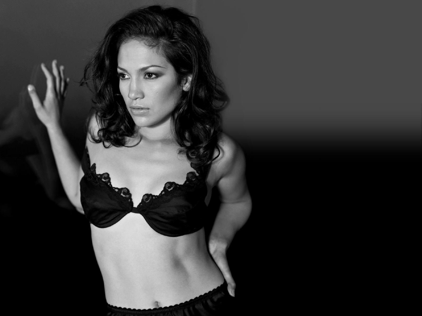 Wallpaper di Jennifer Lopez in bianco e nero