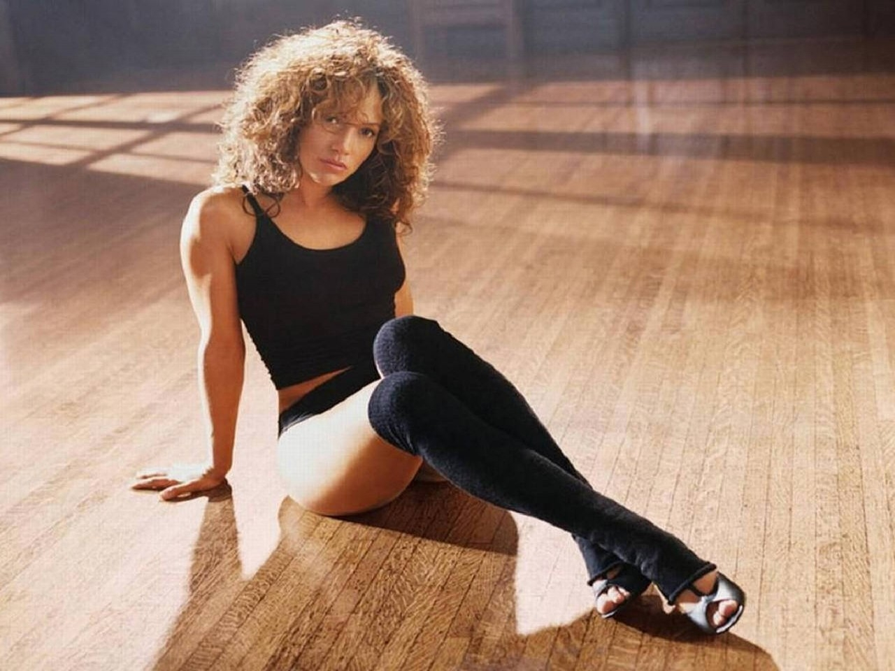 Wallpaper di Jennifer Lopez in versione Flashdance