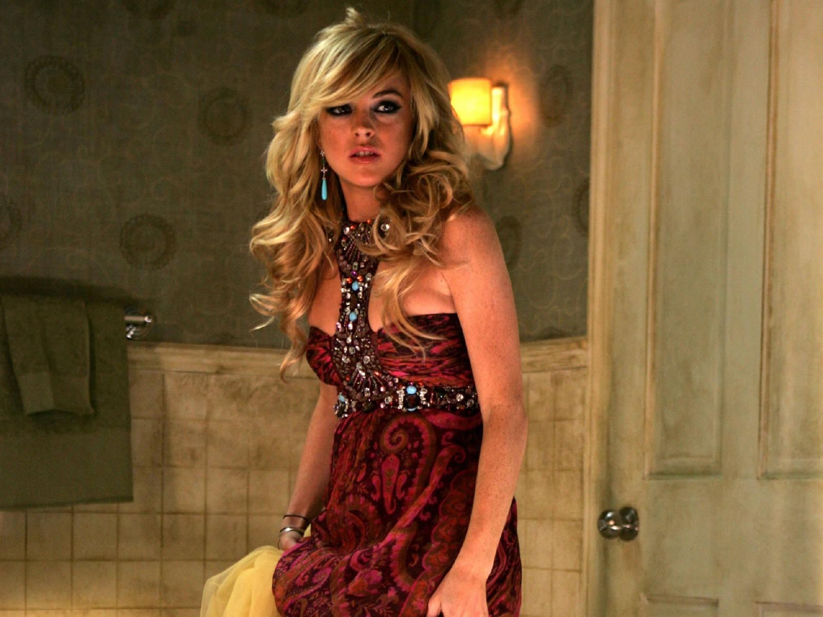 Wallpaper di Lindsay Lohan in versione misteriosa