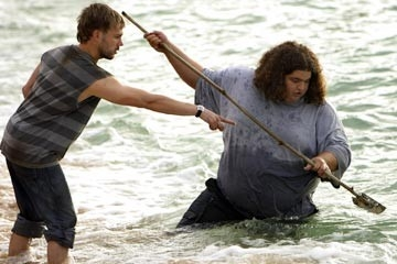Dominic Monaghan e Jorge Garcia nell'episodio 'La caccia' di Lost
