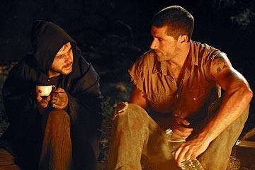 Dominic Monaghan e Matthew Fox nell'episodio 'La falena' di Lost