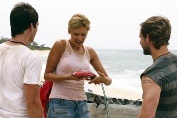 Dominic Monaghan, Maggie Grace e Ian Somerhalder nell'episodio 'La caccia' di Lost