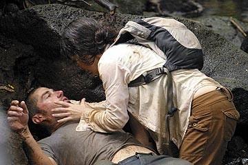 Evangeline Lilly e Matthew Fox nell'episodio 'Inseguimento' della serie Lost