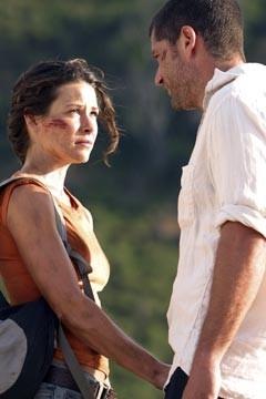 Evangeline Lilly e Matthew Fox nell'episodio 'La caccia' di Lost