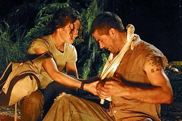 Evangeline Lilly e Matthew Fox nell'episodio 'La falena' di Lost