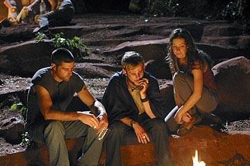 Evangeline Lilly. Matthew Fox e Dominic Monaghan nell'episodio 'Inseguimento' di Lost