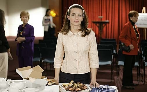 Kristin Davis in una scena di Sex and the City, episodio Pausa di riflessione