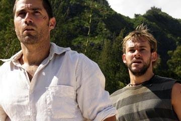 Matthew Fox e Dominic Monaghan nell'episodio 'Il coniglio bianco' di Lost