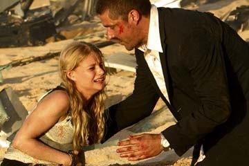 Matthew Fox ed Emilie de Ravin nel Pilot di Lost