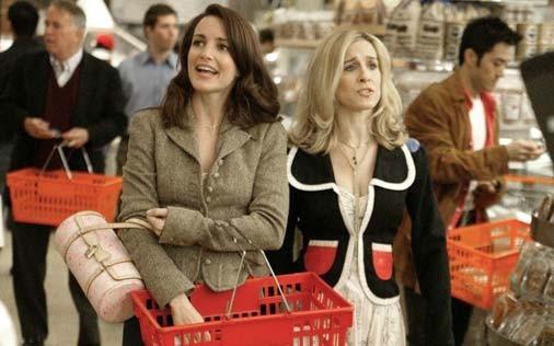 Sarah Jessica Parker e Kristin Davis in una scena di Sex and the City, episodio Amori in rialzo
