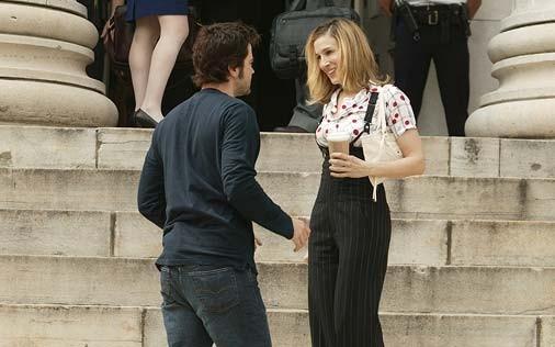 Sarah Jessica Parker e Ron Livingston in una scena di Sex and the City, episodio Pausa di riflessione