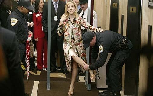 Sarah Jessica Parker in una immagine di Sex and the City, episodio Amori in rialzo