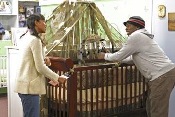 Harold Perrineau insieme a Tamara Taylor nell'episodio 'Speciale' di Lost