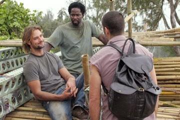 Harold Perrineau, Matthew Fox e Josh Holloway nell'episodio 'Cambiamenti' di Lost