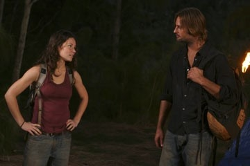 Josh Holloway ed Evangeline Lilly nell'episodio 'Fuorilegge' di Lost