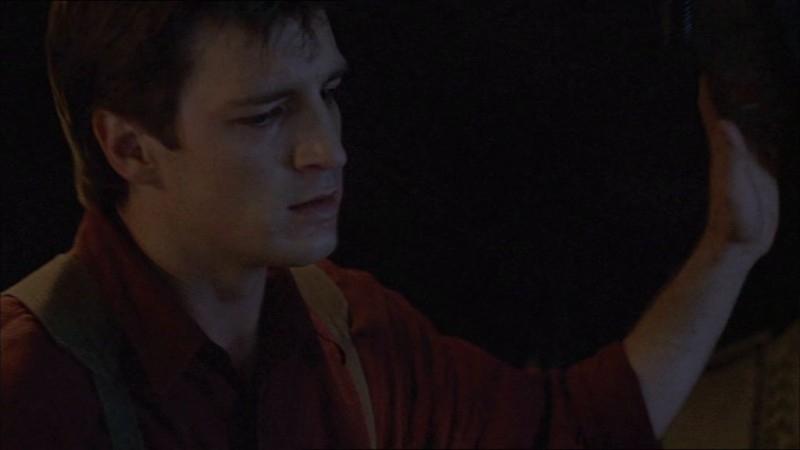 Nathan Fillion in una immagine di Firefly, episodio In azione!
