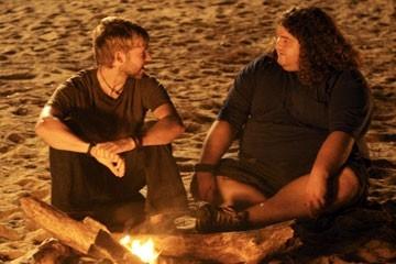 Dominic Monaghan e Jorge Garcia nell'episodio 'Numeri' di Lost
