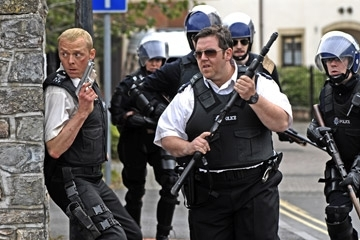Simon Pegg e Nick Frost in Hot Fuzz