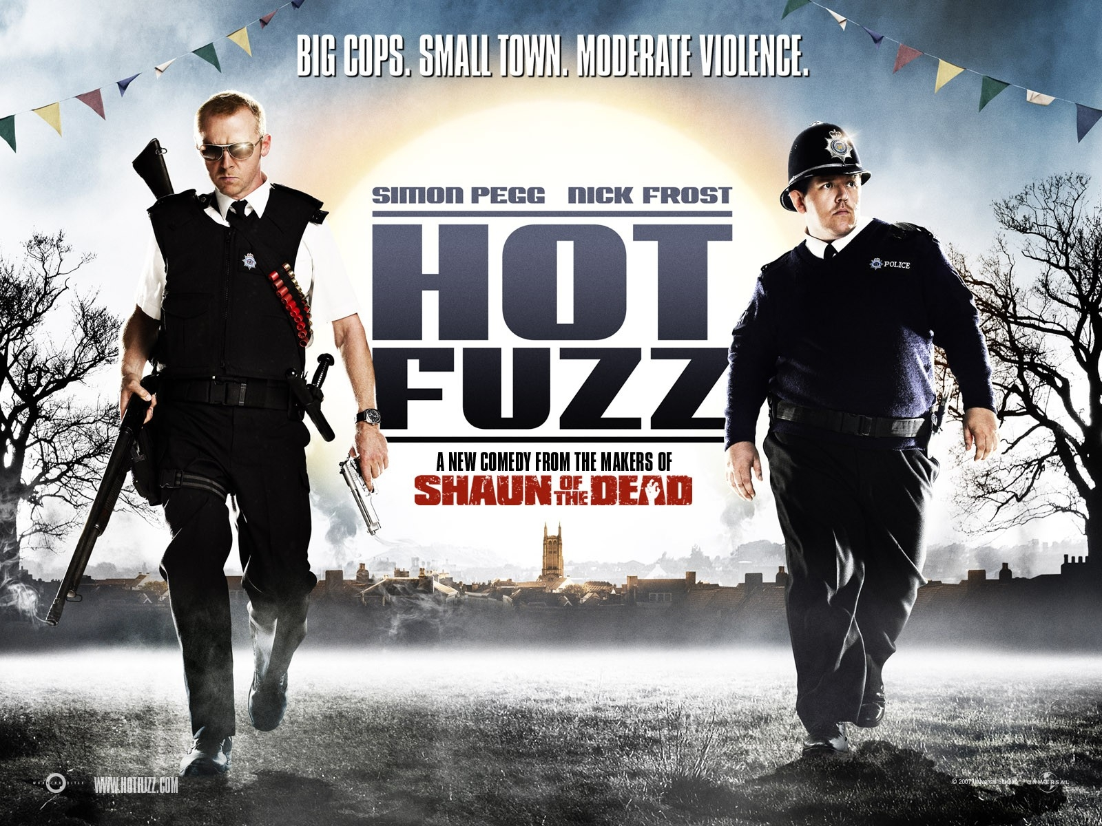 Wallpaper dell'action comedy Hot Fuzz
