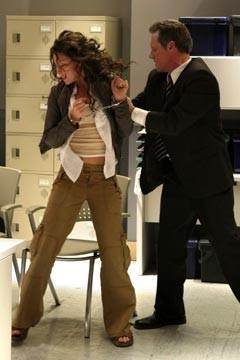 Evangeline Lilly e Fredric Lehne nell'episodio 'Esodo: parte 1' di Lost