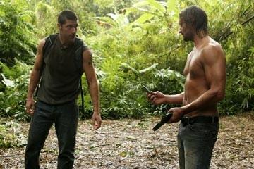 Josh Holloway e Matthew Fox nell'episodio 'Esodo: parte prima di Lost