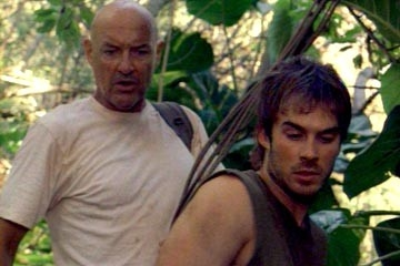 Terry O'Quinn con Ian Somerhalder nell'episodio 'Deus Ex Machina' di Lost
