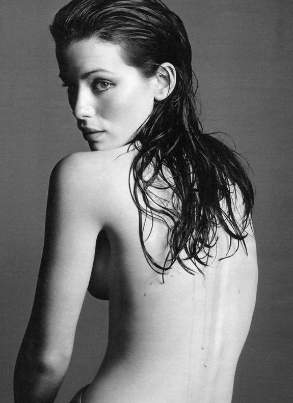 Kate Beckinsale in bianco e nero