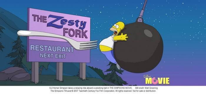 Un'immagine tratta da I Simpson - il film