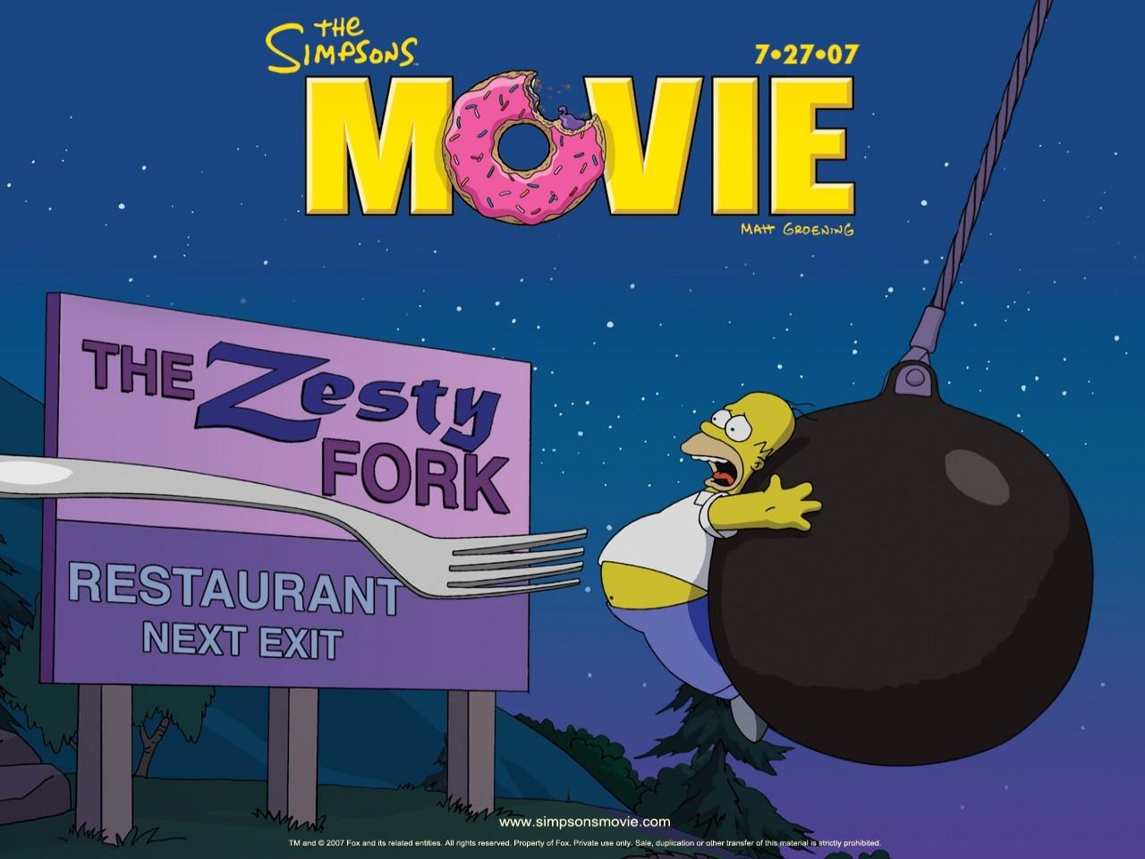 Un wallpaper promozionale del film I Simpson - il film