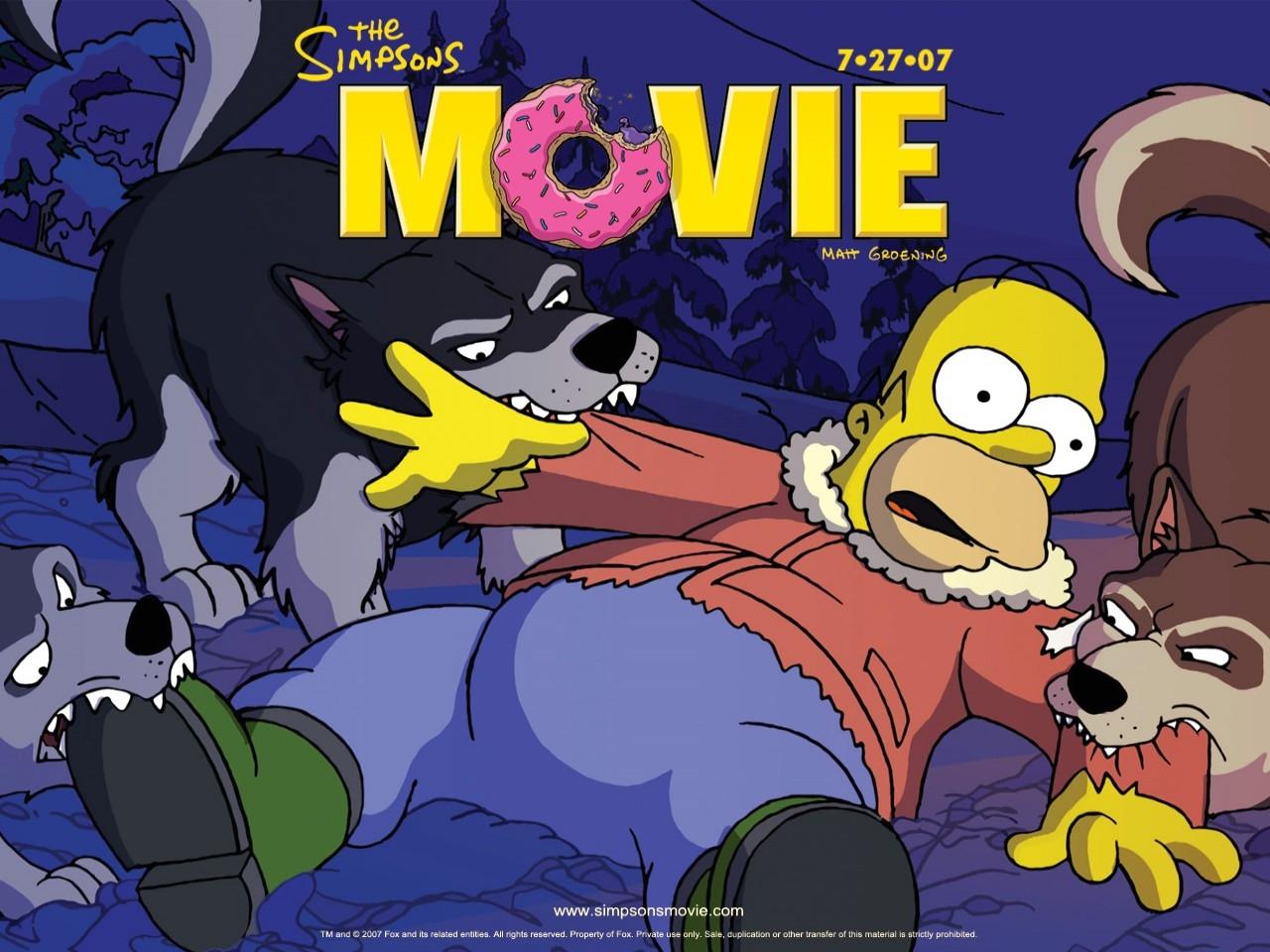 Desktop wallpaper del film I Simpson - il film