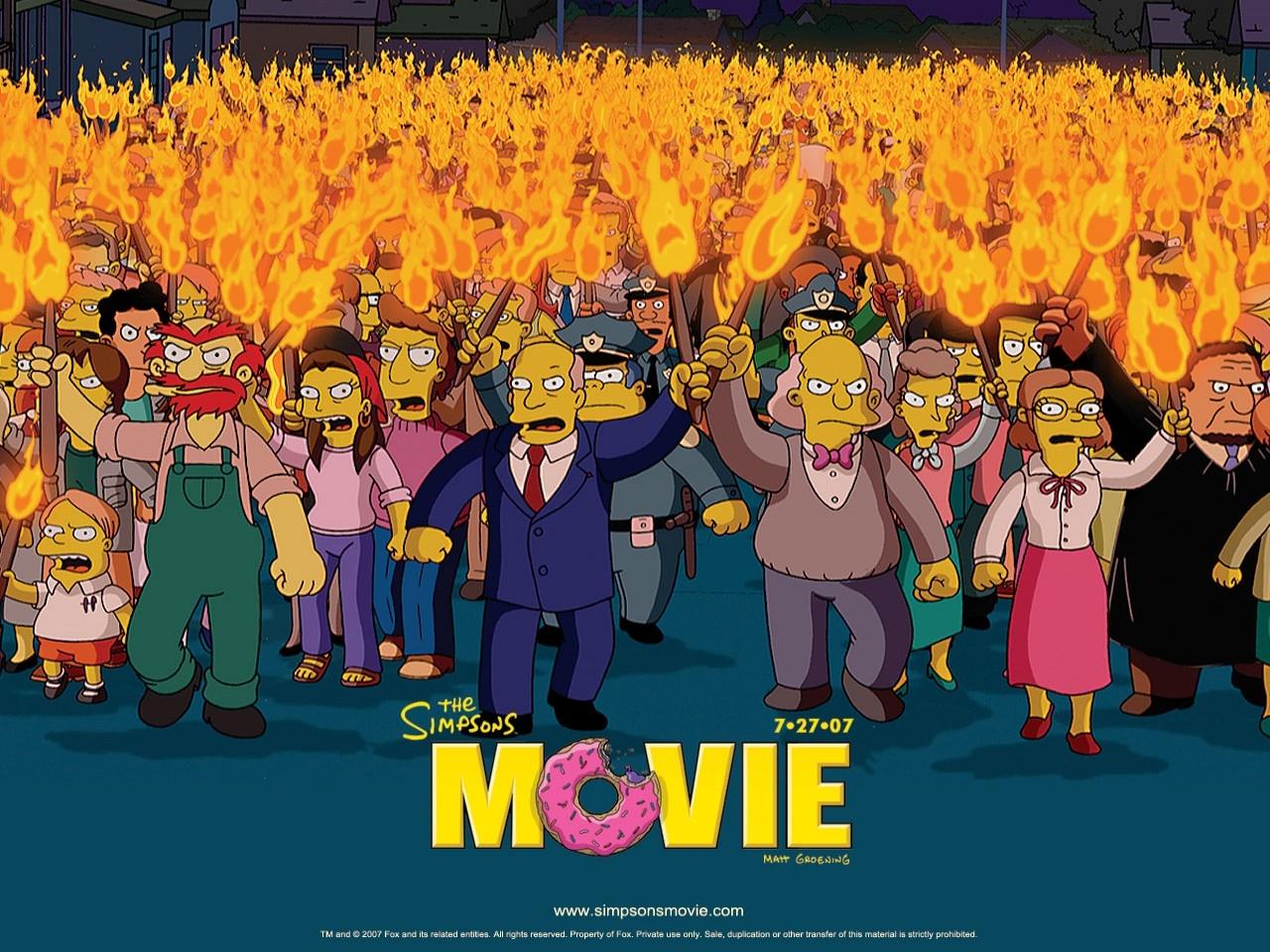 Wallpaper del film dei Simpson