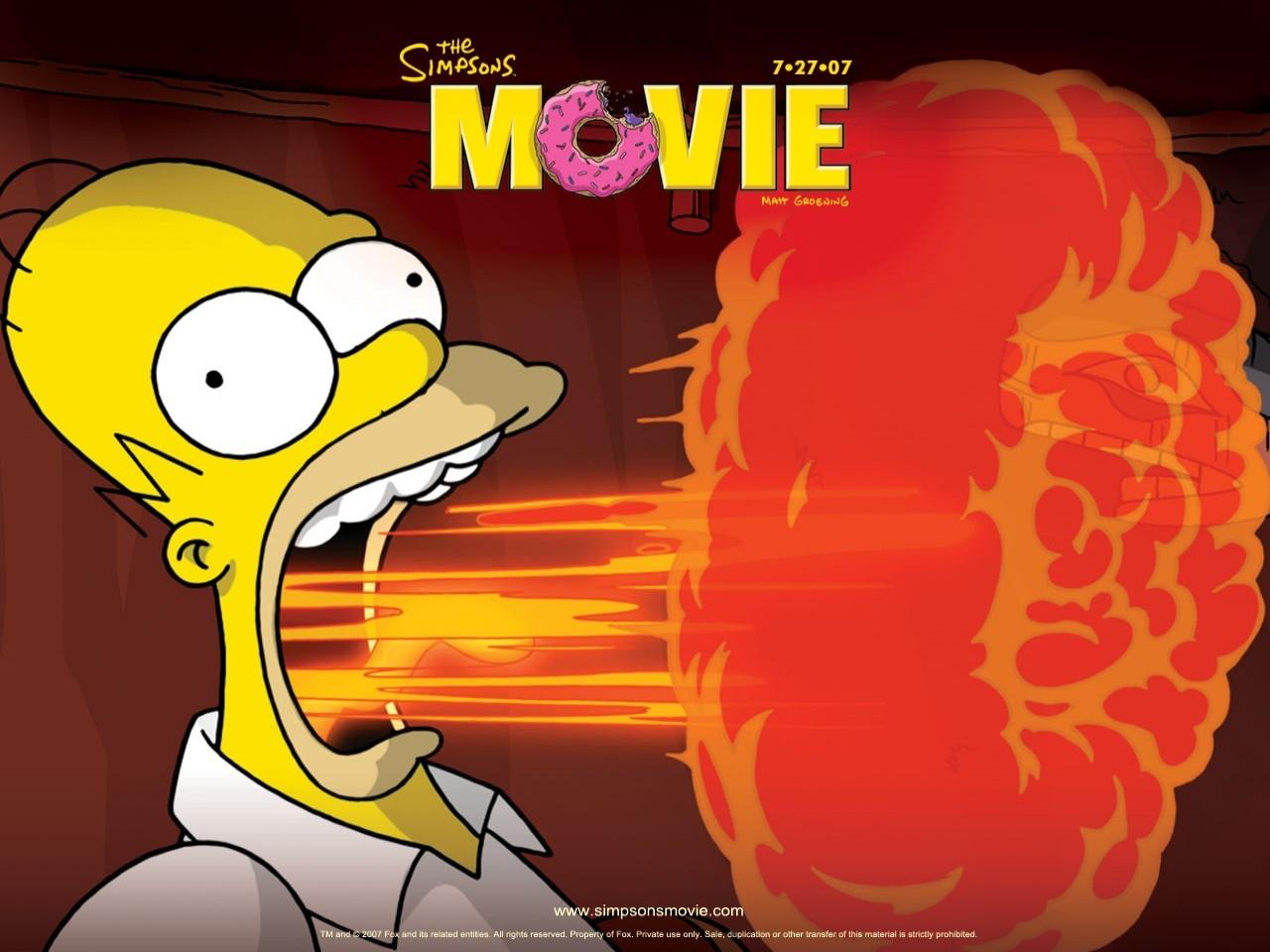 Wallpaper del film I Simpson - il film