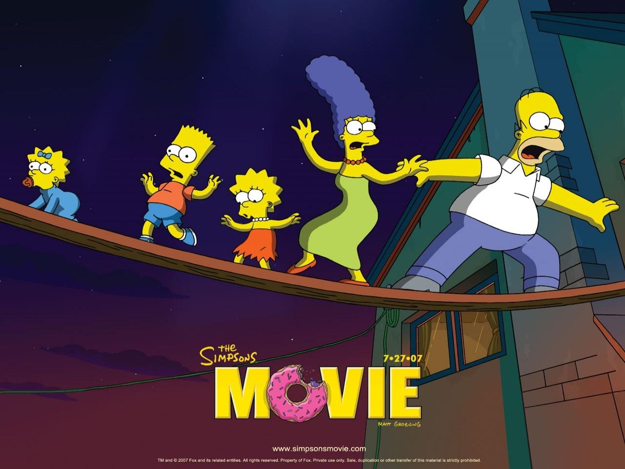Un wallpaper del film I Simpson - il film