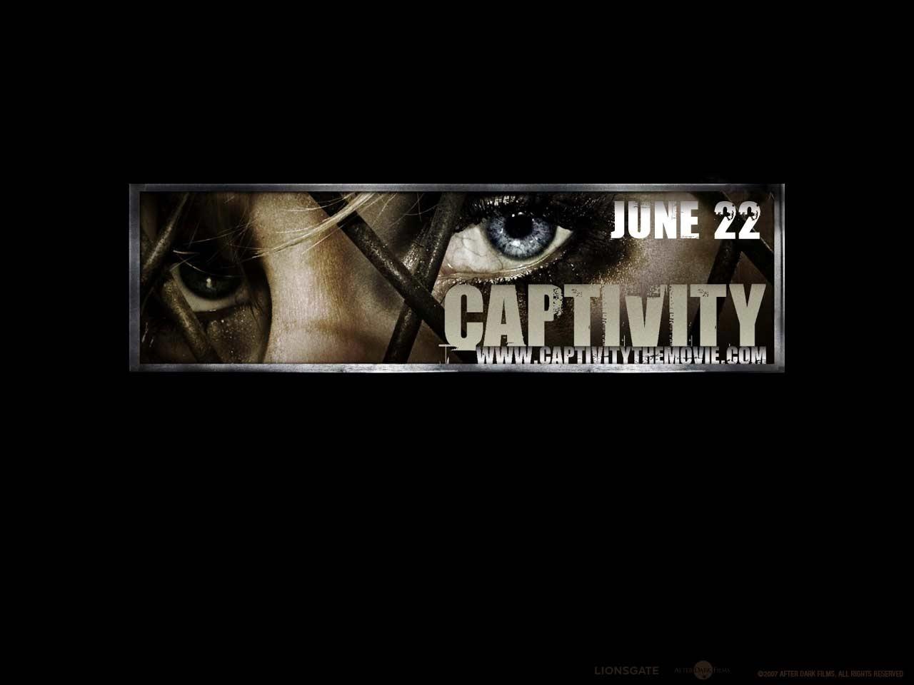 Un wallpaper del film Captivity